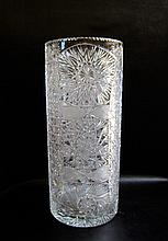 TURKISH CUT CRYSTAL UMBRELLA STAND.  Height 19.75 inches.