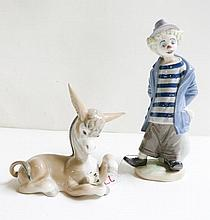 TWO LLADRO FIGURINES of soft paste porcelain: