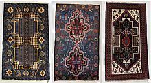 THREE AFGHAN BELOUCHI TRIBAL AREA RUGS, hand