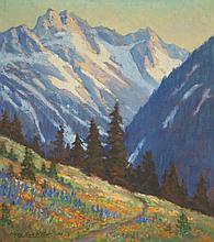 CLYDE LEON KELLER OIL ON BOARD (Oregon 1872-1962)