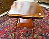 LATE VICTORIAN MAHOGANY LAMP TABLE, American, c.