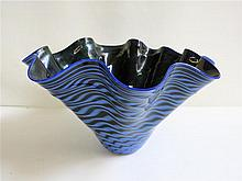 DAN BERGMA STUDIO ART GLASS BOWL, signed