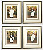GUY BUFFET, FOUR COLOR LITHOGRAPHS (Hawaii/France,