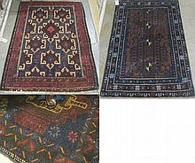 THREE AFGHAN BELOUCHI TRIBAL AREA RUGS, hand