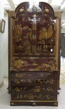 CHINESE CHIPPENDALE STYLE TALL SECRETARY, late 20t