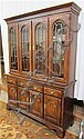 QUEEN ANNE STYLE CHINA CABINET ON BUFFET,