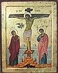 BYZANTINE CRUCIFIXION ICON, A REPRODUCTION