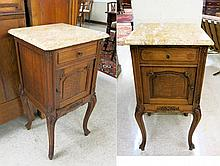 A PAIR OF LOUIS XV STYLE CABINET NIGHTSTANDS,