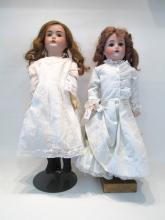 TWO GERMAN BISQUE HEAD DOLLS including a Simon & H