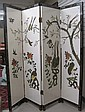 CHINESE FOUR-PANEL FLOOR SCREEN, one side