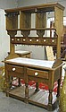 PINE KITCHEN ISLAND SIDEBOARD, antique