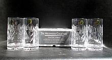 EIGHT WATERFORD CRYSTAL HIGHBALL TOASTING GLASSES