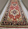 HAND KNOTTED ORIENTAL CORRIDOR CARPET,
