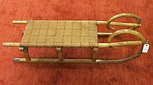 CHILD'S BENTWOOD SNOW SLED, early 20th century, wi