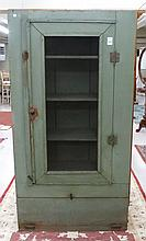PAINTED PINE PIE CUPBOARD, American, c. 1900, a  s