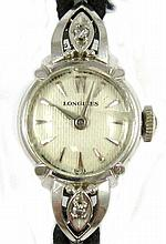 LADY'S VINTAGE DIAMOND AND FOURTEEN KARAT WHITE