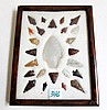 NATIVE AMERICAN INDIAN GEM AND BIRD POINTS POINTS
