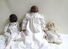 THREE BISQUE HEAD BABY DOLLS: 2 Bye-Lo dolls, by
