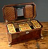 EARLY VICTORIAN MAHOGANY LADY'S SEWING BOX