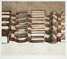 WAYNE THIEBAUD COLOR ETCHING AND DRYPOINT (Califor