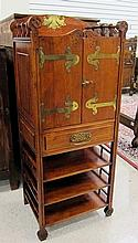 CRAFTSMAN MUSIC CABINET, c. 1900, featuring a