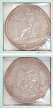 U.S. SILVER TRADE DOLLAR, 1877-P.