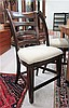 SET OF FOUR LADDER-BACK DINING CHAIRS, Pulaski