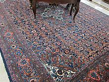 SEMI-ANTIQUE PERSIAN MEHRIBAN CARPET, hand knotted