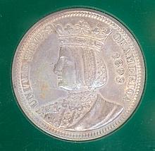 1893 SILVER ISABELLA QUARTER, World's Columbia