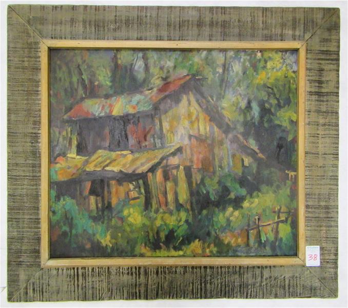 JONATHAN BATCHELOR OIL ON BOARD (California, 1913-2003)