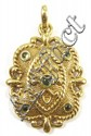 PERIDOT AND FOURTEEN KARAT GOLD PENDANT, set with