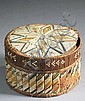 A RARE MICMAC INDIAN COVERED ROUND BASKET