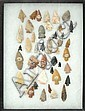 CASED COLLECTION OF NATIVE AMERICAN INDIAN HUNTING