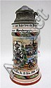 GERMAN REGIMENTAL PORCELAIN STEIN, .5 L.; with