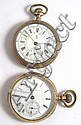 TWO HAMPDEN OPENFACE POCKET WATCHES: Gladiator