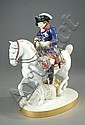 KPM GERMAN PORCELAIN FIGURE: French soldier