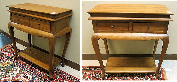 PAIR OF FEDERAL STYLE MAHOGANY PETITE CONSOLE