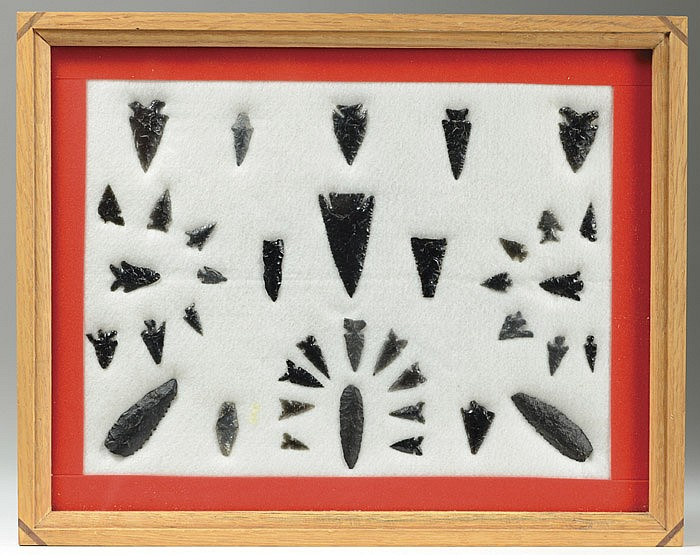 COLLECTION OF THIRTY-EIGHT NATIVE AMERICAN HUNTING