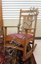 STICKLEY CRAFTSMAN OAK HARVEY ELLIS ROCKING CHAIR,