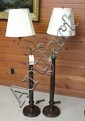 A PAIR OF FLOOR LAMPS, American antique