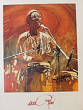 Signed Musician Lithograph