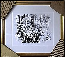 Framed Lithograph by Henri Matisse