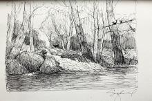 Original ink Drawing on Paper by Michael J. Schofield