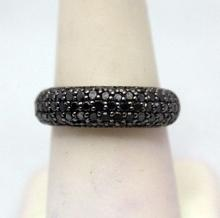Dazzling Black Diamonds Silver Ring (24R)