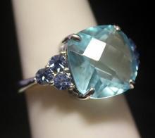 Dazzling Royal Blue Topaz Silver Ring (133R)