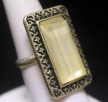 Fancy Mother of Pearl Silver Ring (164R)