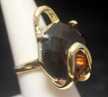 Lavish 14kt Gold over Silver Agate Ring (174R)