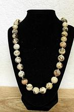 Fancy Colored Agate's with Silver Balls Necklace