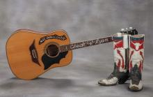 Cowboy Chuck Ryan Guitar and Personal Items