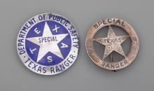 Rex Cauble Texas Ranger Badges and Documents